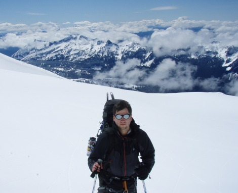 Chris on Rainier