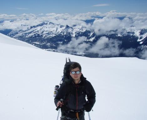 Chris on Rainier